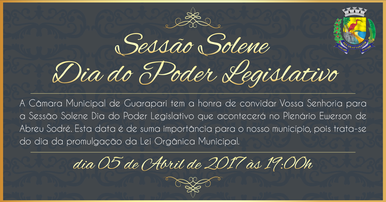 Sessão Solene Dia do Poder Legislativo